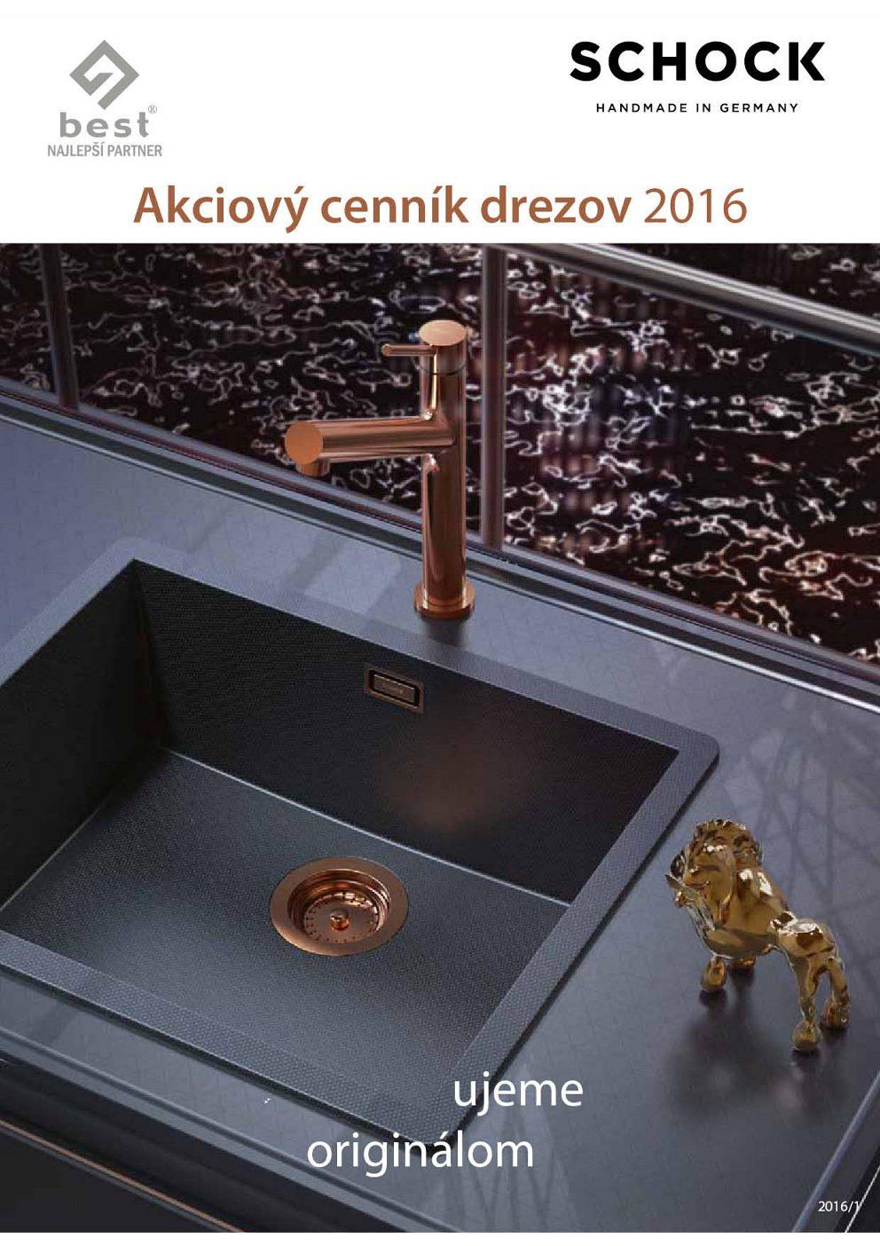 Schock - Akciový cenník drezov a batérii 2016