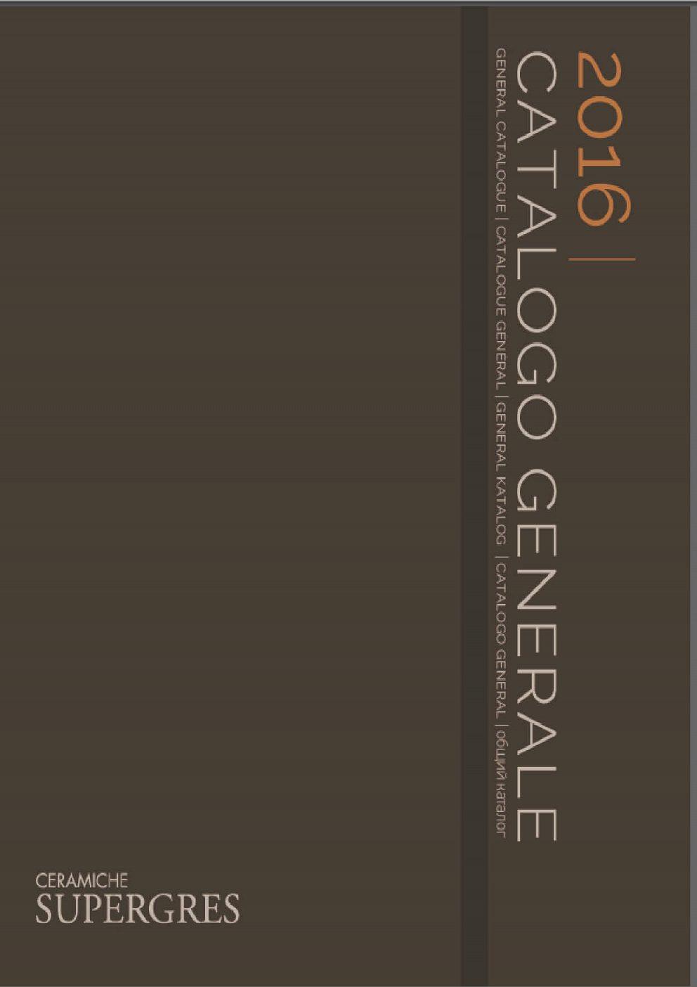 Supergres - Generálny katalóg 2016