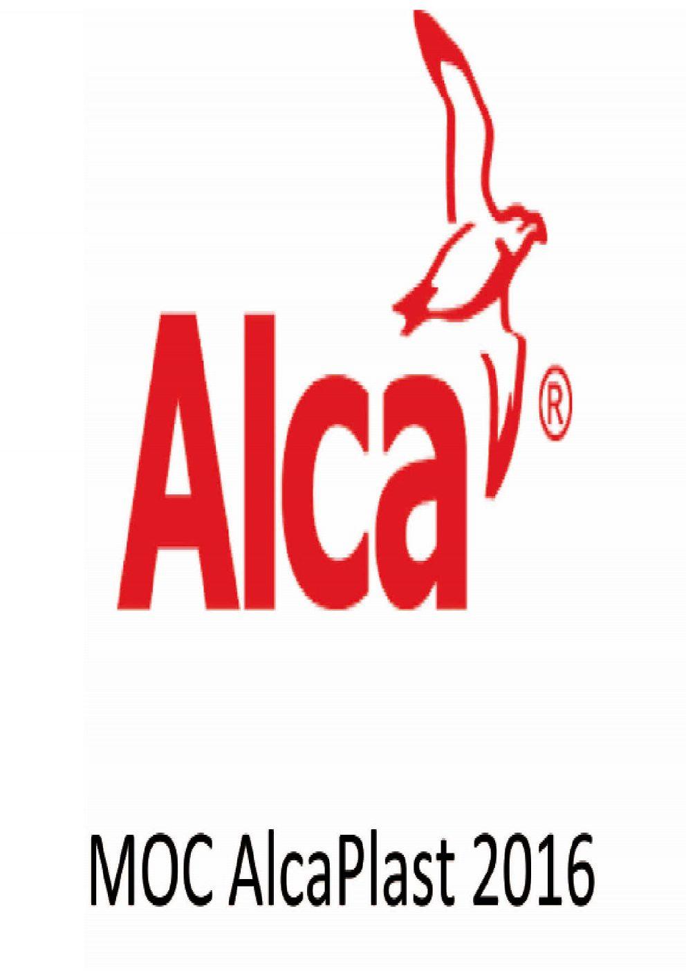 AlcaPlast - MOC cenník od 1.1.2016