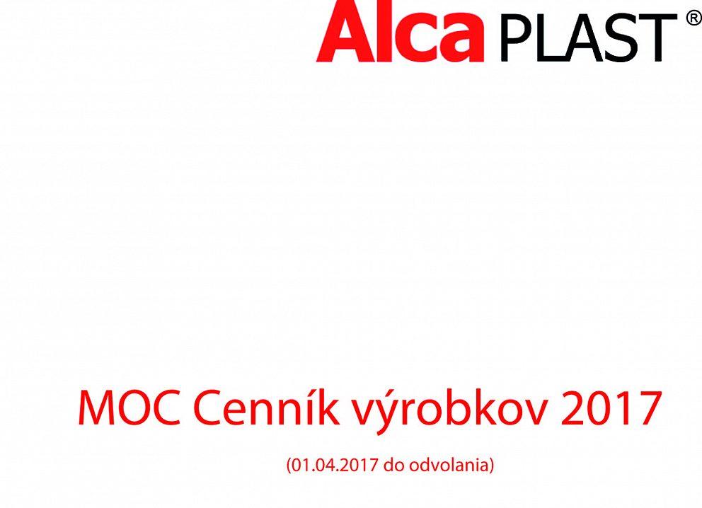 AlcaPlast - MOC cenník 2017