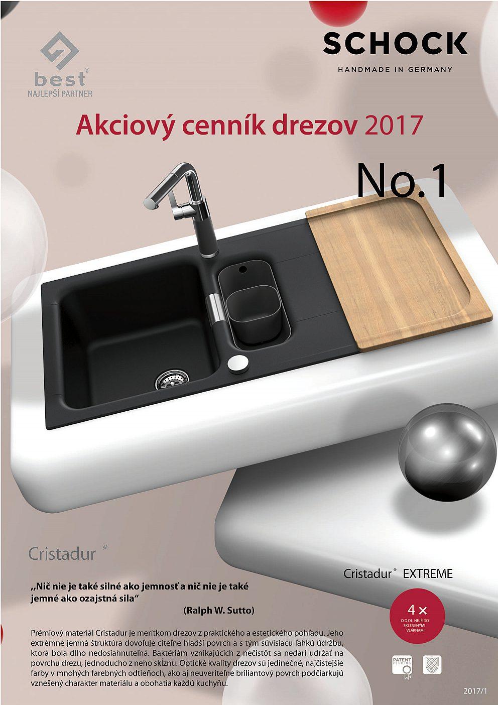 SCHOCK - Akciový leták drezy a batérie 2017