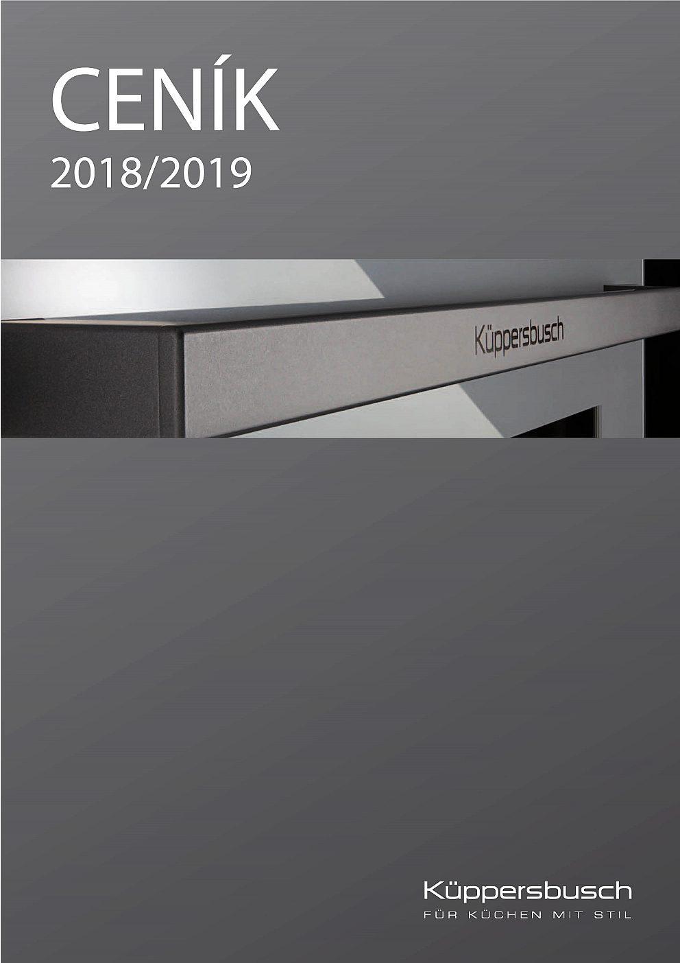 Kuppersbusch - Cenník 2018/2019